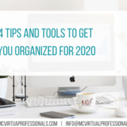 4 Tips and Tools to get you organized for 2020